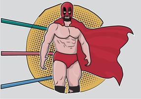 lottatore di cartone animato messicano