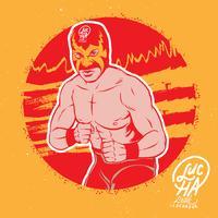 illustrazione di posa di luchador vettore