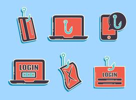 vettore elemento di phishing