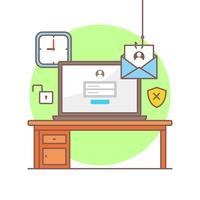 Illustrazione di phishing di Internet di vettore