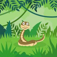 illustrazione di cartone animato anaconda vettore