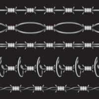 Set di filo di rasoio vettore