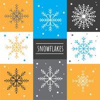 Set vettoriale di fiocchi di neve
