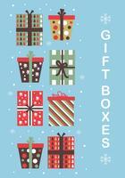 Vettore di scatole regalo