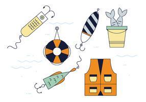 Vettore di attrezzatura da pesca gratis