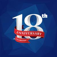Vector 18 ° anniversario celebrazione