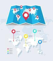 Mappa del mondo infografica vettore