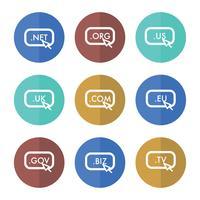 Set di URL di dominio vettore