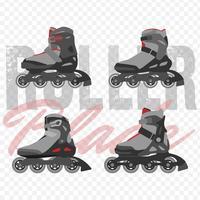 Set di lame Roller moderne vettore