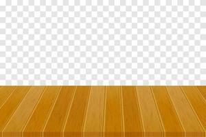 piano del tavolo in legno vettore