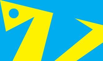 sfondo illustrazione piatto mostro blu giallo vettore
