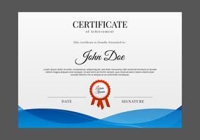 Certificato gratuito modello vettoriale