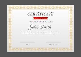 Modello di certificato