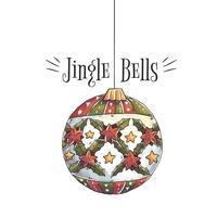 Ornamento palla di Natale con citazione di Natale vettore