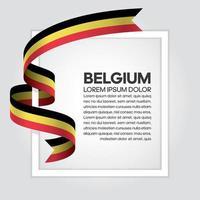 nastro bandiera dell'onda astratta del Belgio