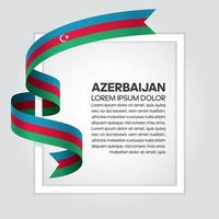 azerbaigian astratto onda bandiera nastro