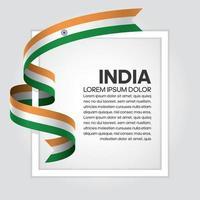 nastro bandiera dell'onda astratta dell'india