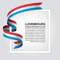 nastro della bandiera dell'onda astratta del Lussemburgo