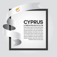 nastro di bandiera onda astratta di Cipro