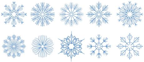 Free Snowflakes 2 Vettori