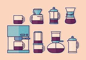 Vector caffè adesivi