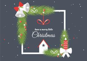Elementi di design di Natale vettoriali gratis