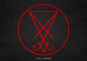 sigillo del vettore simbolo di satana