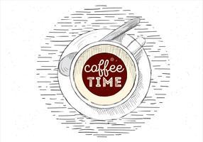 Illustrazione disegnata a mano libera della tazza di caffè di vettore