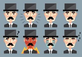 Emoticon di Charlie Chaplin vettore