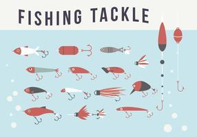 Confezione attrezzatura da pesca vettore