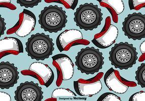 Modello SENZA GIORNI della ruota del camion e del camionista del cappello - vettore