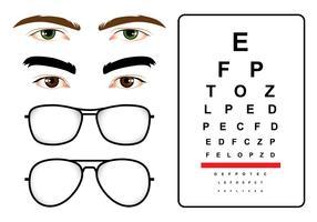 Test degli occhi maschili vettore