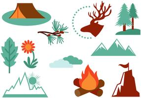 Vettori di escursioni in montagna gratis
