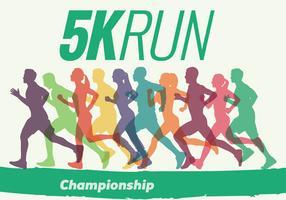 Silhouette da gara da 5K Run Walk