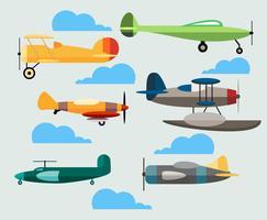 vettore aereo dei cartoni animati