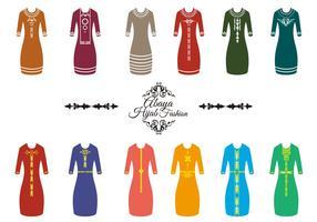 vettore di moda abaya hijab