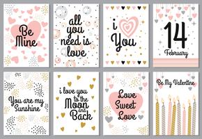 Carte di San Valentino vettore