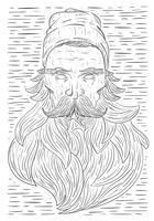 Illustrazione disegnata a mano della barba di vettore