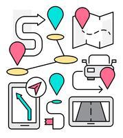 Icone di navigazione lineare vettore