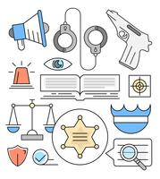 Icone di legge lineare