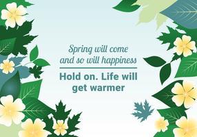 Bella illustrazione di paesaggio vettoriale di primavera
