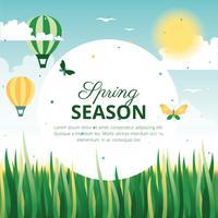 Bella cartolina d'auguri di vettore di primavera