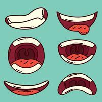Vettore di espressione di bocca disegnata a mano