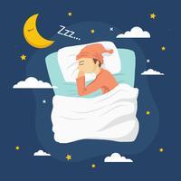 illustrazione vettoriale di andare a dormire