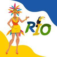 Concetto dell'illustrazione di vettore di carnevale di Rio