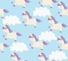seamless di simpatici unicorni vettore