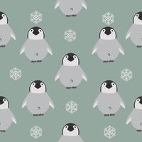 seamless di baby pinguino vettore