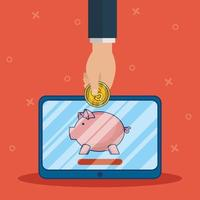 tecnologia di banking online con tablet