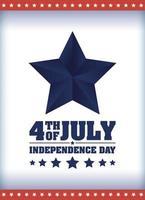 bandiera della celebrazione del giorno dell'indipendenza degli Stati Uniti vettore