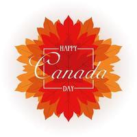 banner di celebrazione felice giorno del canada con foglie di acero vettore